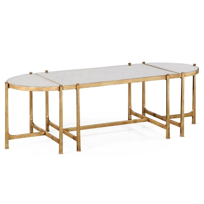 Jonathan Charles Eglomise and Gilded Iron Bunching Tables