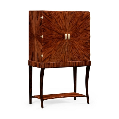 Jonathan Charles Art Deco Drinks Cabinet with Brass Satin