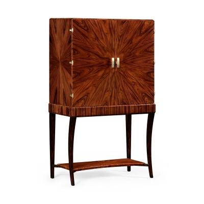 Jonathan Charles Art Deco Drinks Cabinet with Brass Satin
