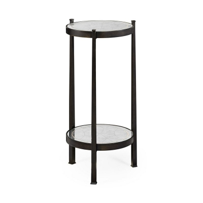 Jonathan Charles Eglomise and Bronze Iron Wine Table