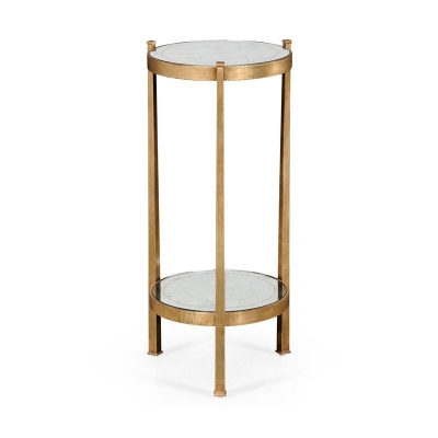 Jonathan Charles Eglomise and Gilded Iron Wine Table