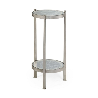 Jonathan Charles Eglomise and Silver Iron Wine Table