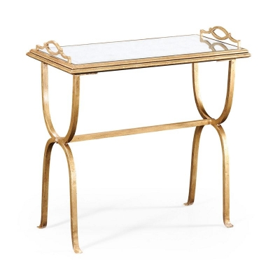 Jonathan Charles Eglomise and Gilded Iron Tray Table