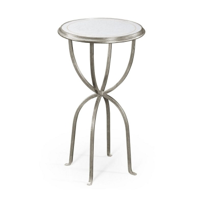 Jonathan Charles Eglomise and Silver Iron Lamp Table with Bunched Legs