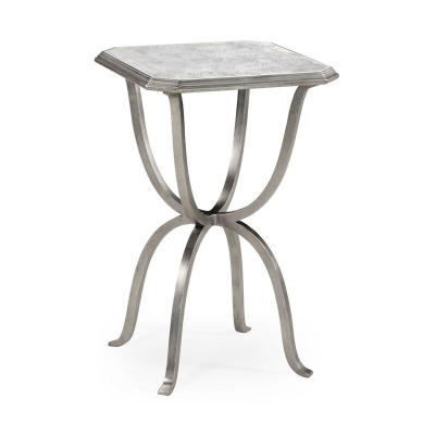 Jonathan Charles Eglomise and Silver Iron Octagonal Side Table