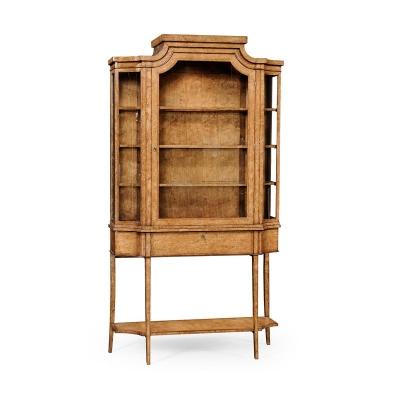 Jonathan Charles Biedermeier Style Display Cabinet