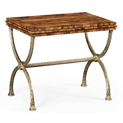 Jonathan Charles Argentinian Walnut Rectangular Side Table
