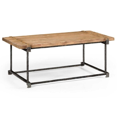 Jonathan Charles Plank Top inch Utility inch Coffee Table