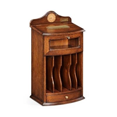 Jonathan Charles Walnut Desk inch Post Box inch