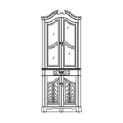 Jonathan Charles Walnut Queen Anne Style Corner Cabinet