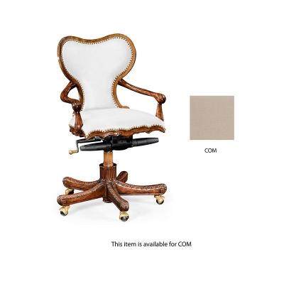 Jonathan Charles Adjustable Kidney Desk Chair COM