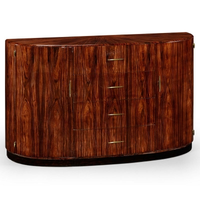 Jonathan Charles Art Deco Demilune Sideboard with Brass High Lustre
