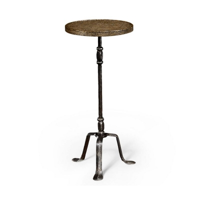 Jonathan Charles Textured Brass and Iron Lamp Table