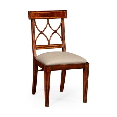 Jonathan Charles Regency Mahogany Curved Back Chair Side