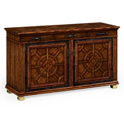 Jonathan Charles Parquetry Sideboard with Distressed Finish