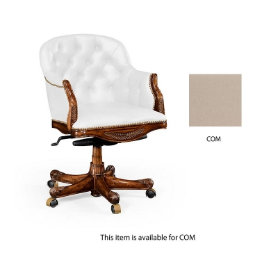 Jonathan Charles Buttoned Custom Fabric Desk Chair Low Back COM