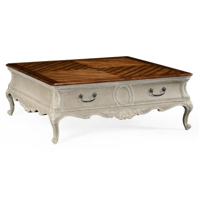 Jonathan Charles French Provincial Grey Painted Coffee Table