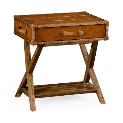 Jonathan Charles Travel Trunk Style Side Table