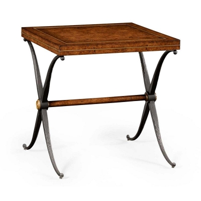 Jonathan Charles Hammered Iron Side Table