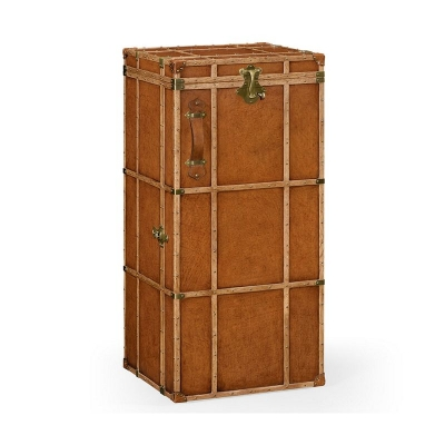 Jonathan Charles Travel Trunk Style Wine and Cocktail Cabinet