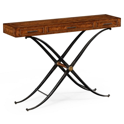 Jonathan Charles Hammered Iron Console