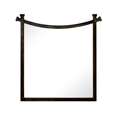 Jonathan Charles Bronze Iron Mirror with Curved Top