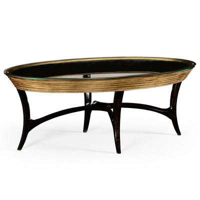 Jonathan Charles Stepped Gilded Coffee Table