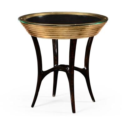 Jonathan Charles Stepped Gilded Circular Side Table
