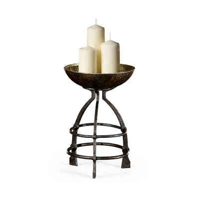 Jonathan Charles Wrought Iron Candle Stand