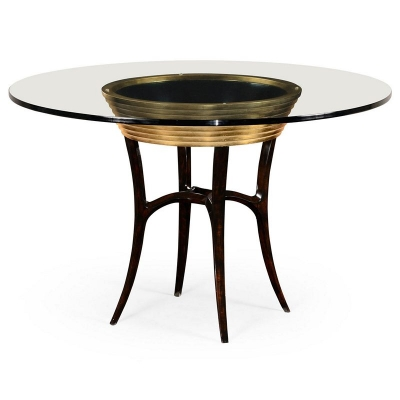 Jonathan Charles 48 inch Stepped Gilded Circular Dining Table