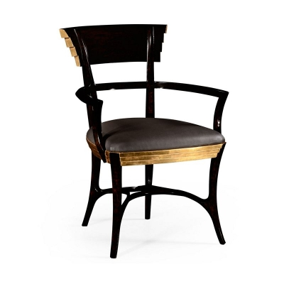 Jonathan Charles Stepped Gilded Dining Armchair