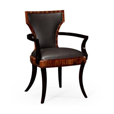 Jonathan Charles Art Deco Armchair High Lustre