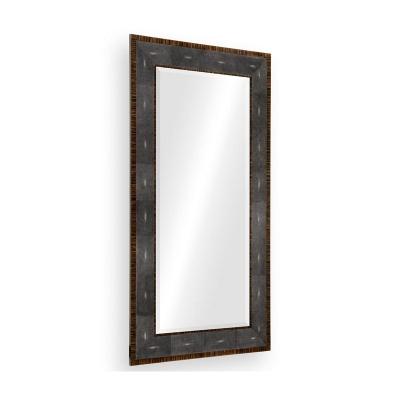 Jonathan Charles Faux Macassar Ebony and Anthracite Shagreen Floor Mirror