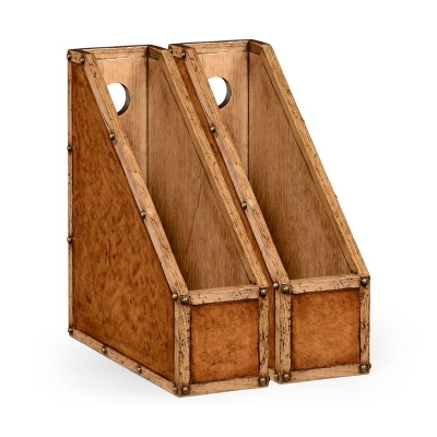 Jonathan Charles Travel Trunk Style Box File