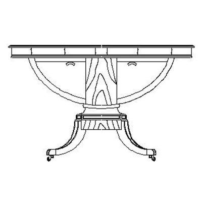 Jonathan Charles Biedermeier Style Mahogany Centre Table