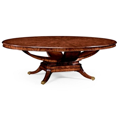 Jonathan Charles 96 inch Biedermeier Style Mahogany Oval Dining Table