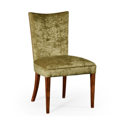 Jonathan Charles Biedermeier Style Mahogany Dining Side Chair Lime Green