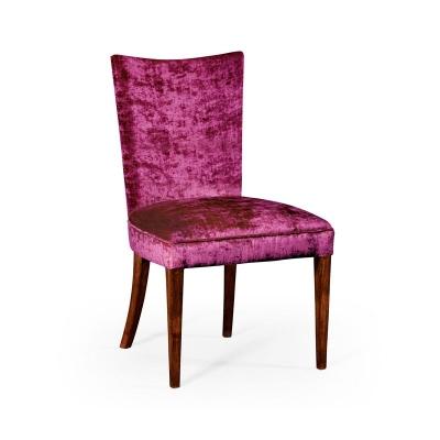 Jonathan Charles Biedermeier Style Mahogany Dining Side Chair Fuchsia