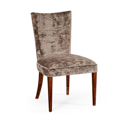Jonathan Charles Biedermeier Style Mahogany Dining Side Chair Truffle
