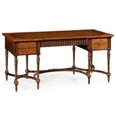 Jonathan Charles Napoleon III Style Writing Table with Fine Inlay