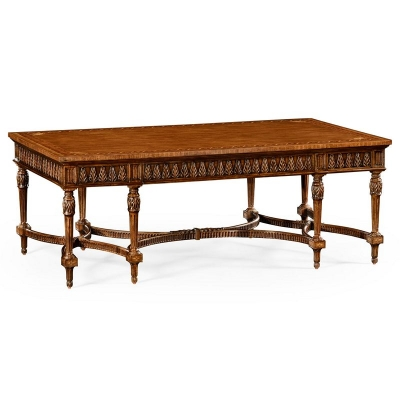 Jonathan Charles Napoleon III Style Coffee Table with Fine Inlay