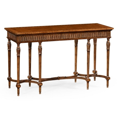 Jonathan Charles Napoleon III Style Console with Fine Inlay