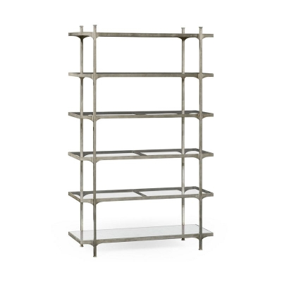 Jonathan Charles Patinated Silver Finish Six Tier Etagere