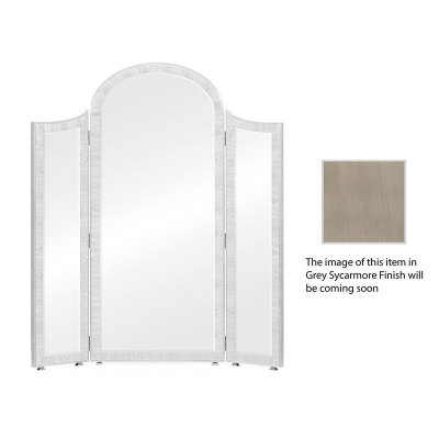 Jonathan Charles Opera Art Deco Style Full Length Triple Dressing Mirror with Brass Detail