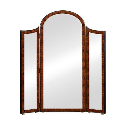 Jonathan Charles Art Deco Style Full Length Triple Dressing Mirror High Lustre