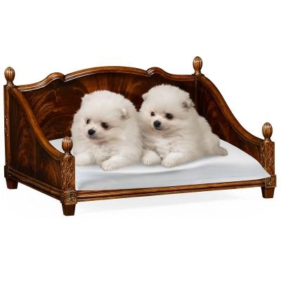 Jonathan Charles Mahogany Veneer Four Poster Dog Bed