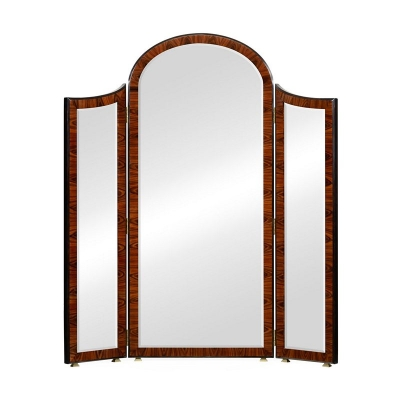Jonathan Charles Art Deco Style Full Length Triple Dressing Mirror Satin