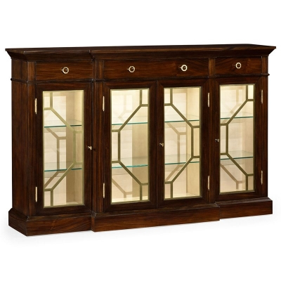 Jonathan Charles 4 Door Breakfront Display Cabinet