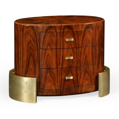 Jonathan Charles Small Oval Chest of Drawers