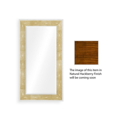 Jonathan Charles Ivory Shagreen Floor Mirror